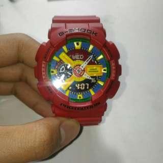 G-Shock 樂高紅