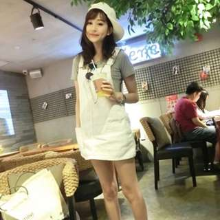白色吊帶裙