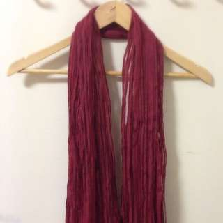 Red Summer Scarf