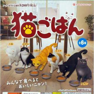 貓咪吃飯幸福時光 扭蛋轉蛋