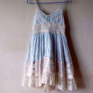 寧藍蕾絲洋裝👗