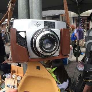 德國製 Agfa 底片相機 機械式 無電池(手動捲片) 付皮套(背帶蠻長可以斜背)