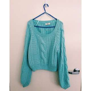Ava Blue Green Woolen Jumper