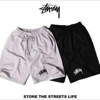 Stussy 運動褲 棉褲 刺繡 短褲 潮流 經典