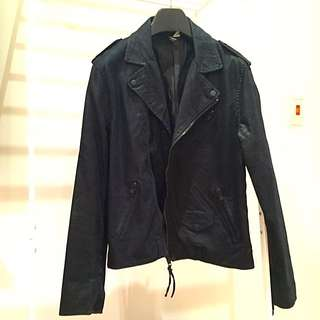H&M Synthetic Leather Biker Jacket