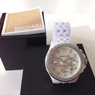 MICHAEL KORS/ White Ceramic Chronograph Watch
