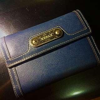 (已贈送)Kinaz皮夾 中夾 三摺 藍色