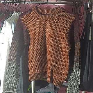 古著 混色針織毛衣