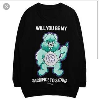 BNIP INSTOCK Will You Be My Sacrifice To Satan Pullover