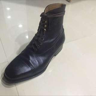 Ed Et Al Black Captoe Boots / Shoe
