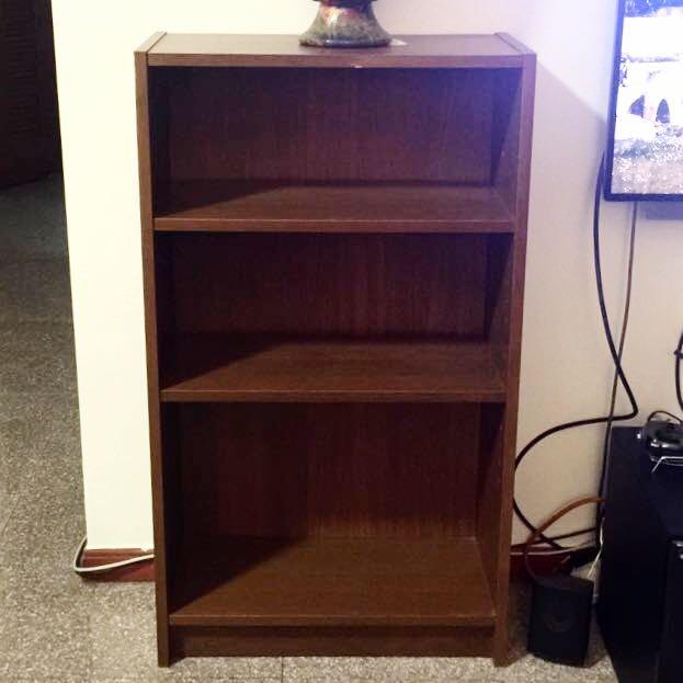 3 Tier IKEA Billy Bookshelf Dark Brown Wood Furniture On Carousell