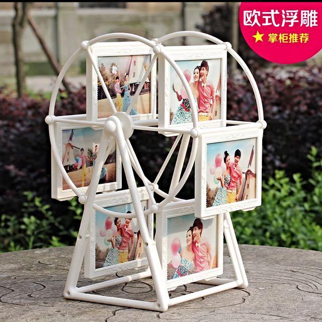 5吋摩天輪相框(浮雕款)婚禮小物/會場佈置/情人節生日禮物 可面交