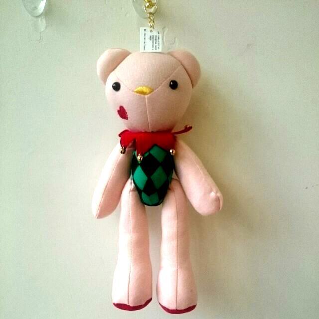 全新🍄粉紅禮物熊-聖誕版