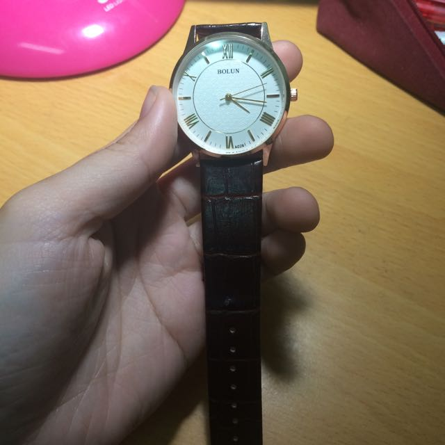 咖啡錶帶質感手錶