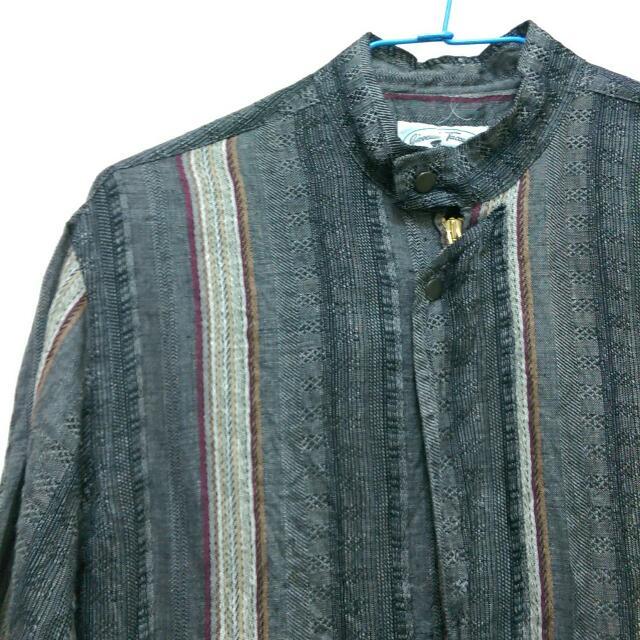 ☀義大利製古著立領襯衫
