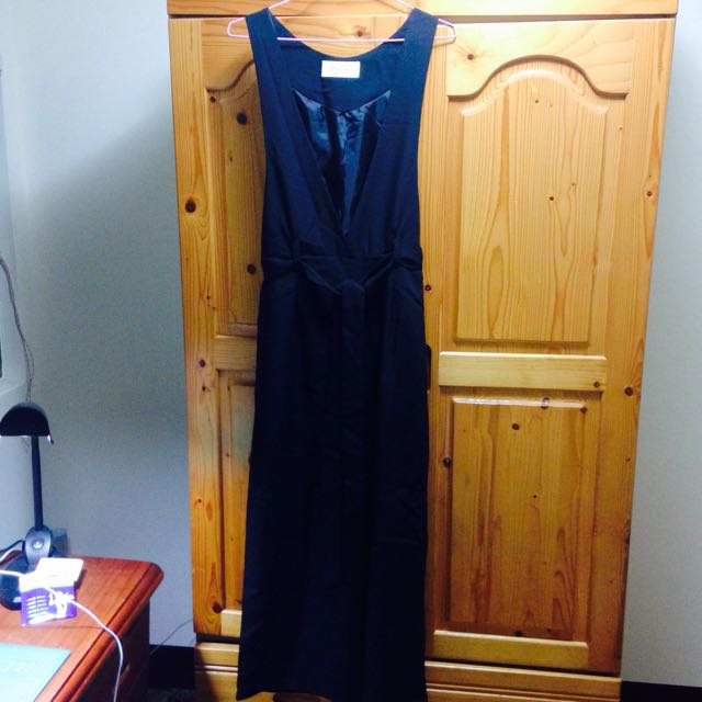 超顯瘦連身素褲裙
