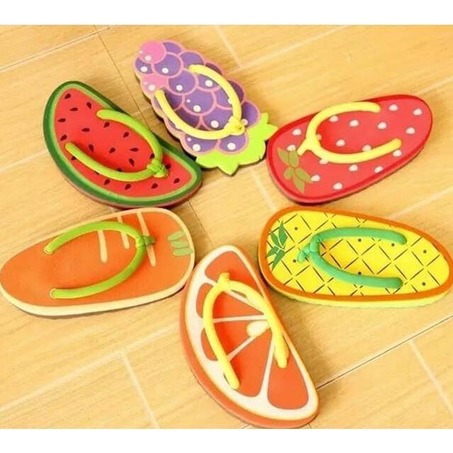 夏季卡通水果 西瓜 鳳梨 草莓 柳丁 胡蘿蔔 葡萄 沙灘拖鞋 浴室 厚底 人字拖