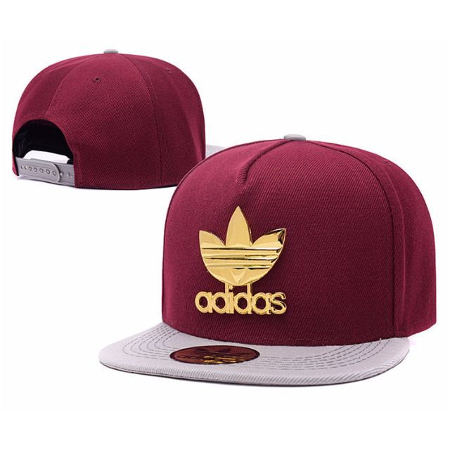 Adidas Maroon Gold Baseball Snapback Straight Brim Cap Hat Caps Hats ... c249c42c068