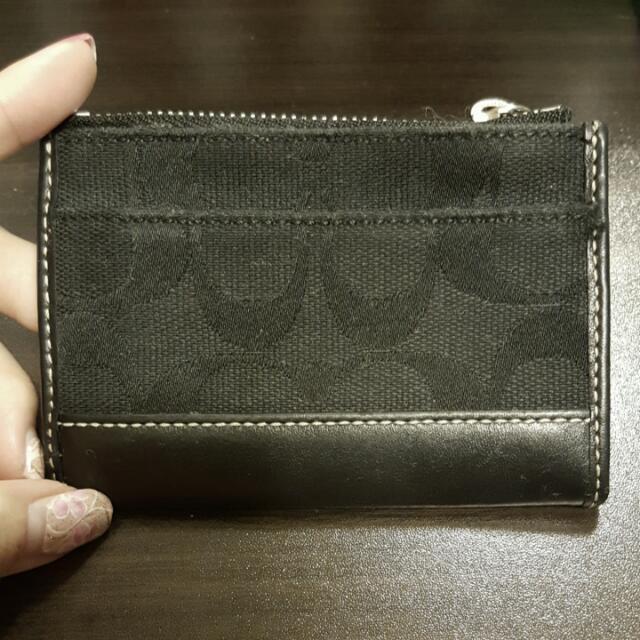 COACH黑色零錢包(保留)