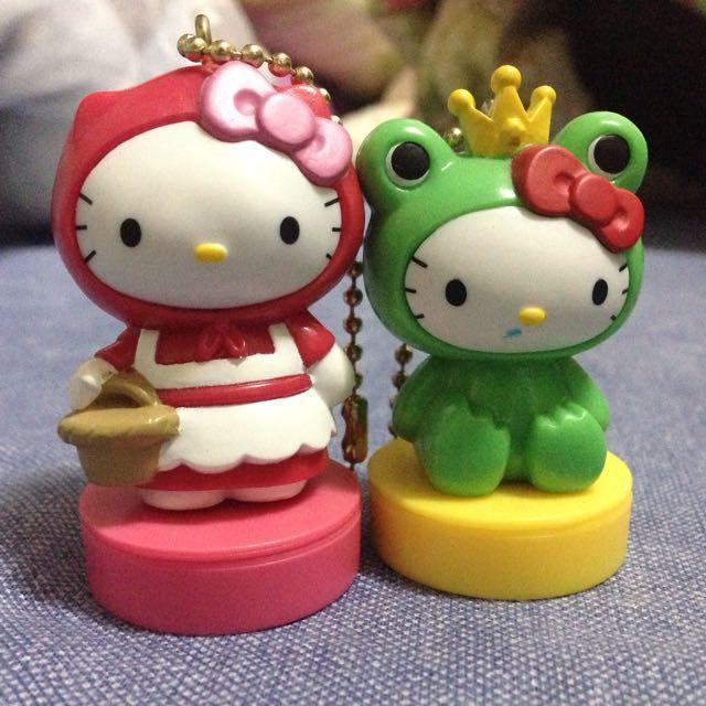 Hello Kitty 印章公仔 公仔印章 青蛙 小紅帽