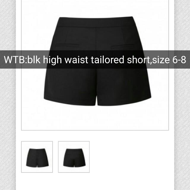 LOOKING FOR Black Tailored Shorts