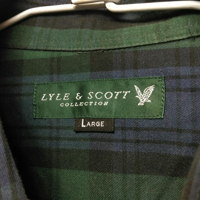 Lyle & Scott 長袖 深綠色 格紋 襯衫