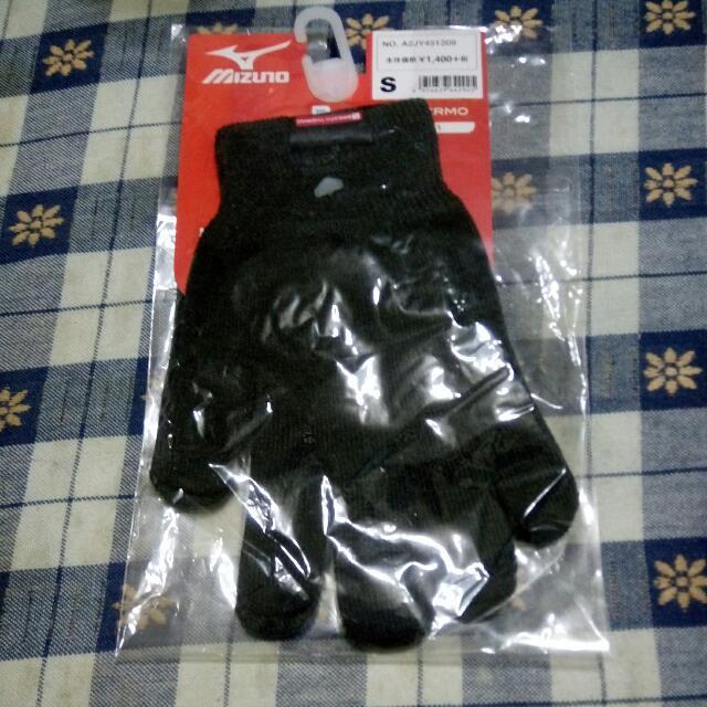 (全新)mizuno針織吸濕發熱保暖手套