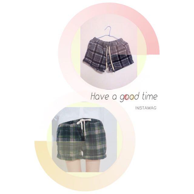 Planet行星格紋短褲