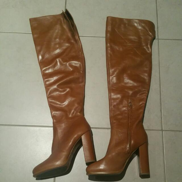 Tony bianco tan Leather Boots