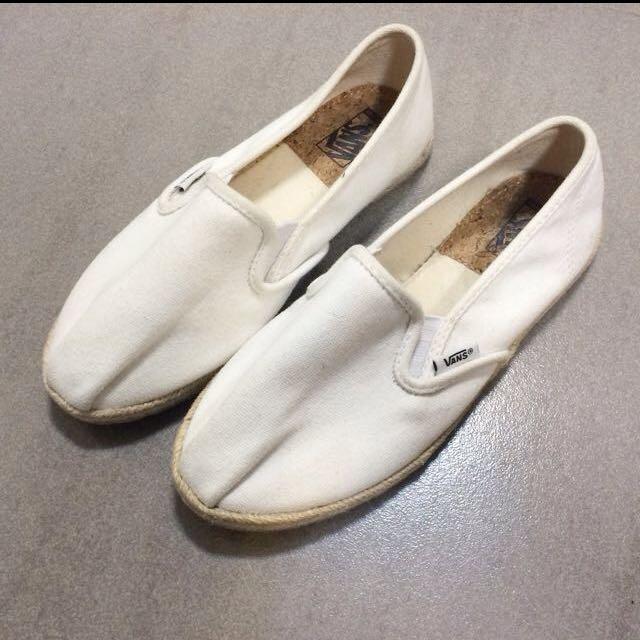 vans slip on 懶人鞋 白色