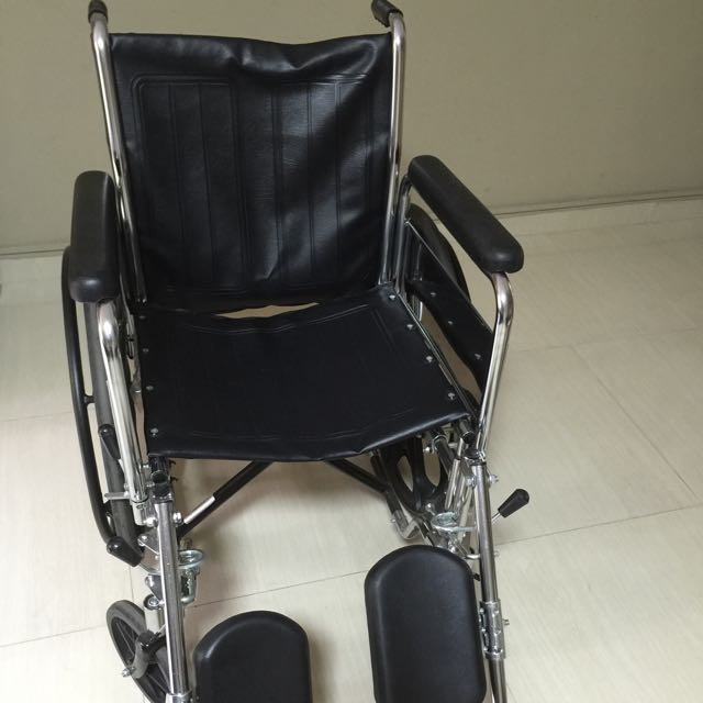 Reclining Wheelchair With Writing Board And Crutches