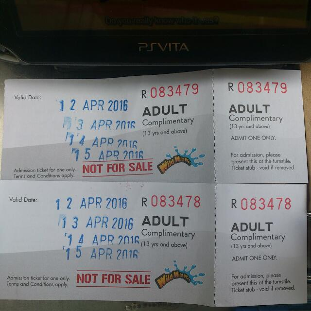 Wild Wild Wet Tickets and LinkPoints are: Non-Refundable - Non-Exchangeable for Cash - Non-Transferable; All rates are inclusive of prevailing GST. Ticket rates include access to all attractions & rides (Safety, health, height & physical restrictions apply). Age verification is required for special concessionary rates.