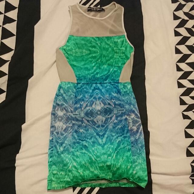XS Mesh Insert Dress