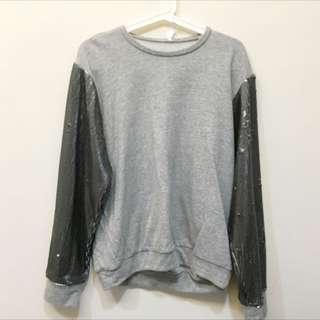 🚚 歐美Party亮片袖女裝衛衣Sweatshirt
