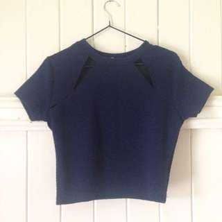 Cotton On Navy Blue Top Size S