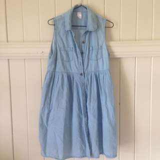 Chambray Blue Dress Size 12