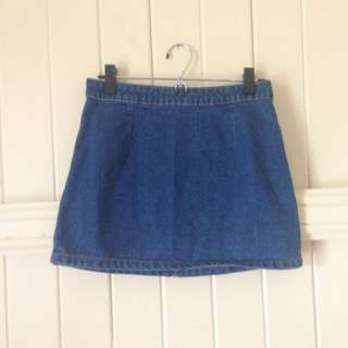 Dotti Denim Mini Skirt Size 8