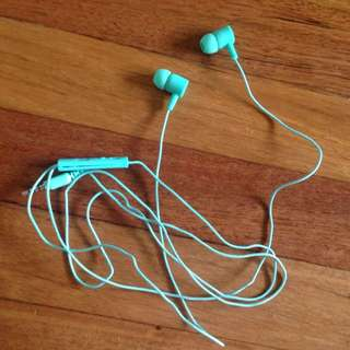Mint Coloured Ear Phones