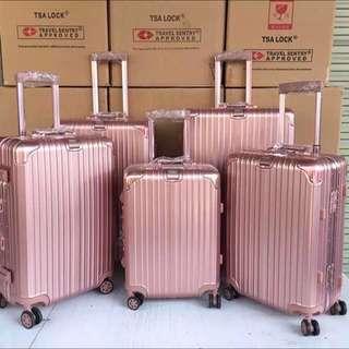 日默瓦版ROYAL ARMY玫瑰金旅行箱行李箱