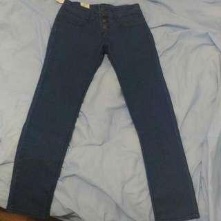 韓貨 高腰牛仔褲 顯瘦