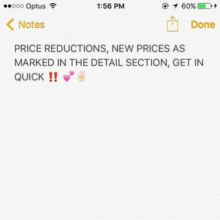 PRICE REDUCTIONS‼️💕