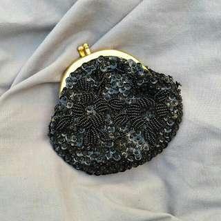 BLACK SEQUIN Coin Purse