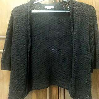 Black Cardigan Rajut