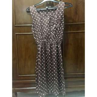 Polka Dress Satin