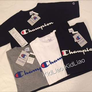 正品 2016 Champion 春夏新品 經典草寫短袖t 余文樂 陳冠希 Stussy Champion Nike Adidas