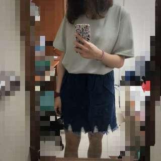 👧🏻牛仔短裙 深藍