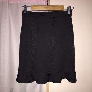 Maurie & Eve Goddess Flare Skirt Jet Snake Jacquard