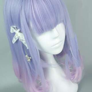 Lilac Blue Pink Ombre Wig Instock  (Reserved)