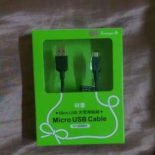 充電傳輸線micro Usb ,Htc Samsung Sony 都可用