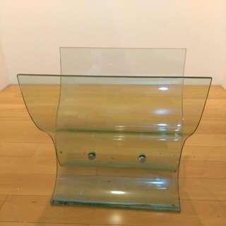 造型 玻璃書報架